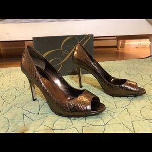 Enzo Angiolini Deep Bronze Heels